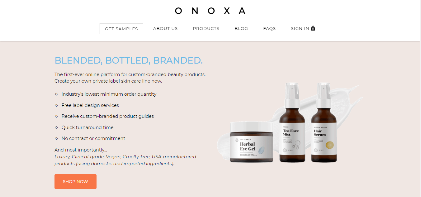 Private Label Skin Care Products From Onoxa Create Your Brand Today